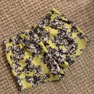 J Crew Yellow Floral Shorts 6